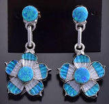 Mother of Pearl & Opal Flower Earring by Marsha Quam 9J16M