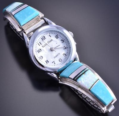 Vintage Silver Turquoise & More Navajo Women's Watch by CW 8A08K
