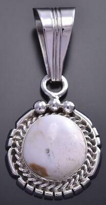 White Buffalo Turquoise Pendant by Samuel Yellowhair 9C22Y