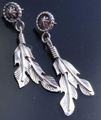 All Silver Feathers Earrings by Lee Shorty - 9B18H