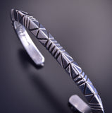 Silver Arrow Bracelet by Erick Begay ZM03P