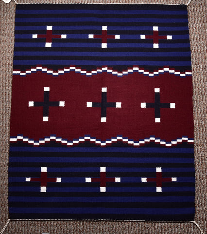 Navajo Handwoven Rug - 3rd Phase Chief design - ZH17C