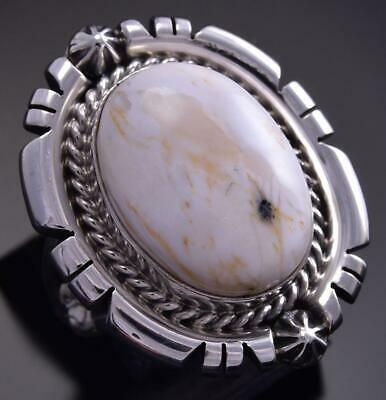 Size 7 White Buffalo Turquoise Ring by Daniel Benally 9K24L