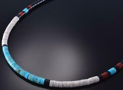 "17"" Turquoise & More Natural Santo Domingo Necklace by Torevia Crespin 1B16E"
