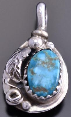 Reversible Silver & Turquoise & Coral Bear Claw Small Pendant Gary Henry 8E23M