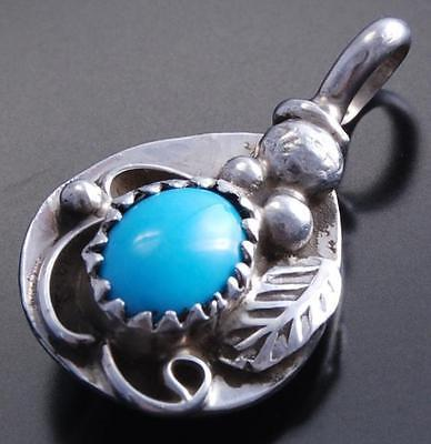 Reversible Small Silver Turquoise Coral Bear Claw Pendant by Gary Henry 7F18V