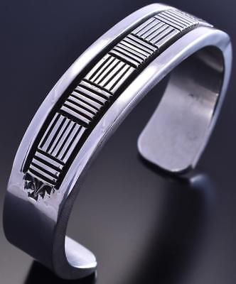 All Silver Heavy Basket Weave Design Men's Bracelet by Bruce Morgan 8I29F