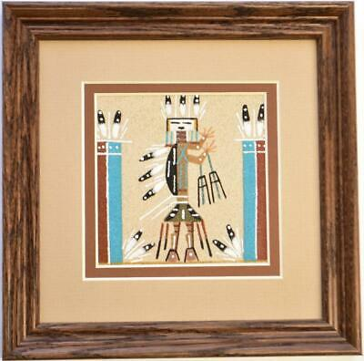 Navajo Sand Painting by Veronica Begay 7x7 - 1C04Y
