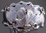 Size 13 All Silver Hunting Eagle Men's Ring by G. Francisco 9J10A