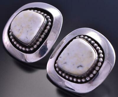 Vintage White Buffalo Earrings by Irv Monte 9D04B
