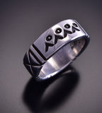4 Sacred Mountains Ring Band Ring By Erick Begay TO12Q