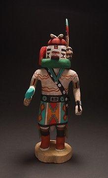 Hopi ~  Kwivi Kachina Doll Signed D. Adams  ~ 12 inches tall