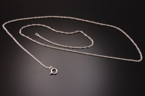 16 INCH STERLING SILVER 1.35 MM ROPE CHAIN WITH SPRING RING CLASP          TO12X
