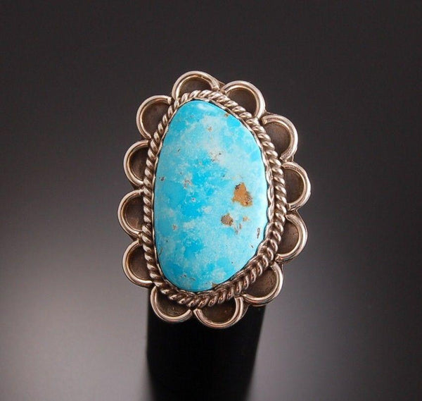 Size 8-1/2 ~ Smokey Valley Turquoise Rings by Val Tsosie TO91E