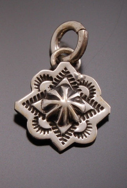 Stamped Silver Pendant ~ OLD STYLE PAWN ~ DESIGN BY ERICK BEGAY            TO41L