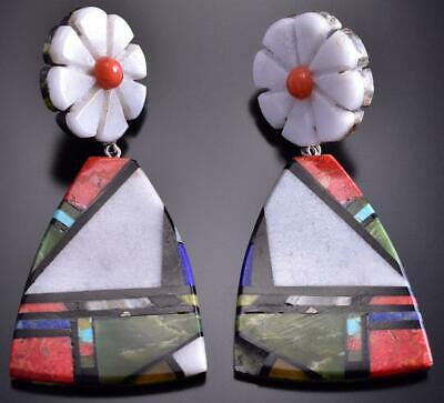Pre-owned Multi-Stone Mosaic Earrings by Chris Nieto 9D04O