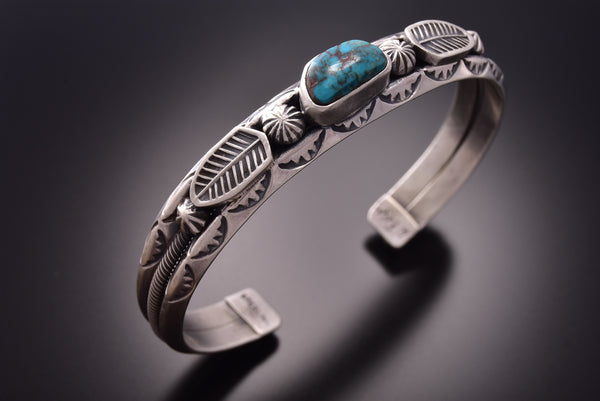 Old Style Red Mountain Turquoise Bracelet by Erick Begay ZE18J
