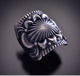 Size 10 Silver Mens Ring by Derrick Gordon ZM01D