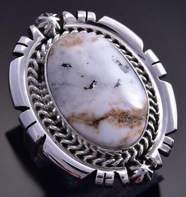 Size 8 White Buffalo Turquoise Ring by Daniel Benally 9K24J