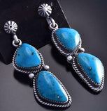 Navajo Turquoise Earring by Annie Spencer 9J16O