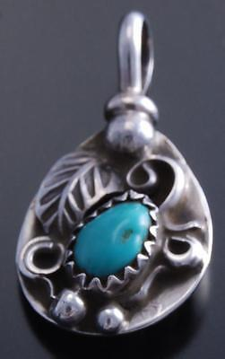 Reversible Small Silver Turquoise Coral Bear Claw Pendant by Gary Henry 7F18Z