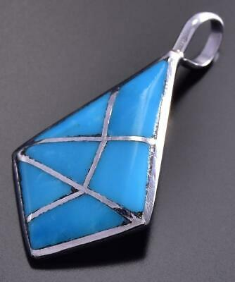 Sleeping Beauty Turquoise Inlay Pendant by Laurie Kallestewa 9J24Z