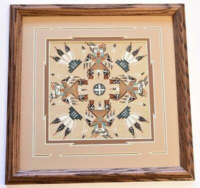 Navajo Sand Painting by Glen Nez 13-1/2 x 13-1/2 9C13B