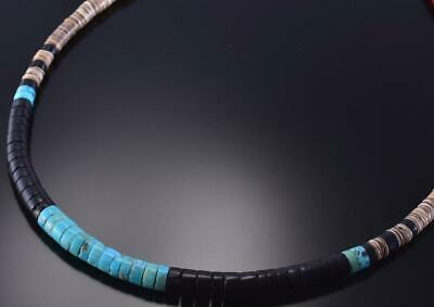 "17"" Turquoise & More Natural Santo Domingo Necklace by Torevia Crespin 1B16F"