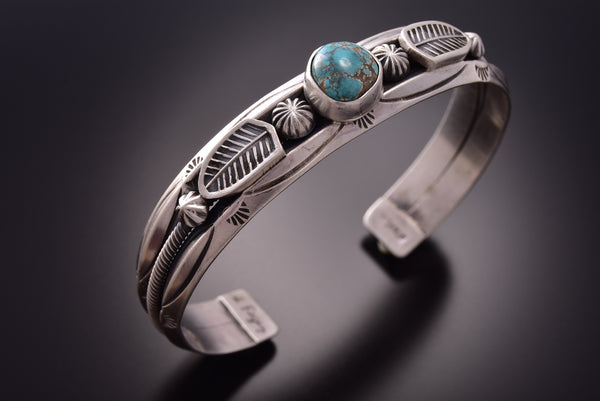 Old Style Red Mountain Turquoise Bracelet by Erick Begay ZE18O