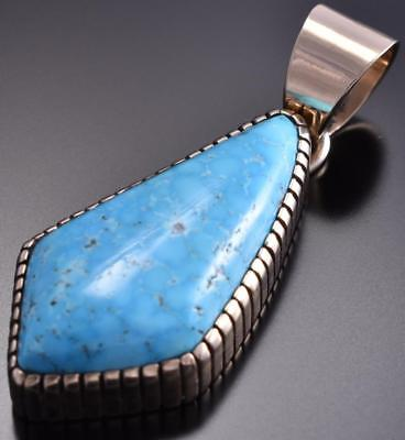 14k Gold & Turquoise Pendant by Erick Begay 8H12H