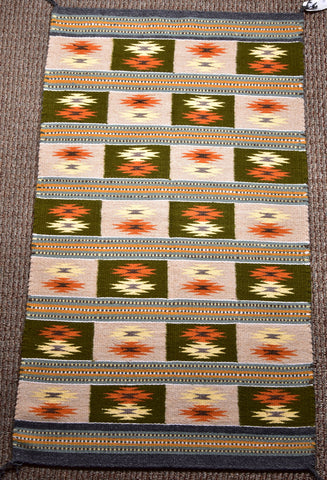 Navajo Handwoven Rug Wide Ruins Chinle Design By Marie L Tsosie ZH17A