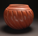 Santa Clara Pueblo Melon Bowl by Mary Cain ZG20B