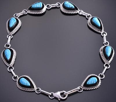 5 inlay Circle Link Bracelet by Tyrone Martinez 8I17T