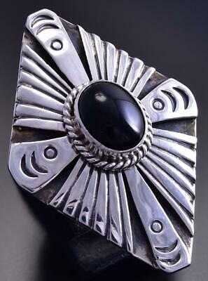Black Onyx Ring Size 6 by Henry Attakai 9K24G