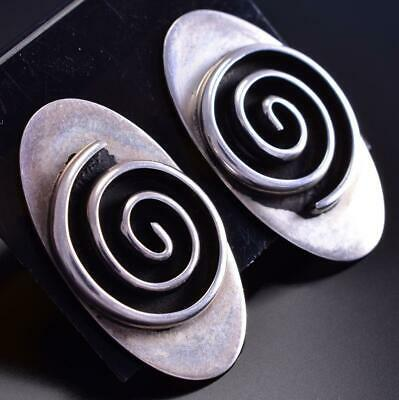 Vintage Silver Spiral Earrings by JUAN 9D05N