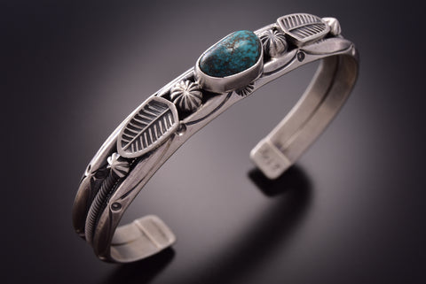 Old Style Red Mountain Turquoise Bracelet by Erick Begay ZE18N