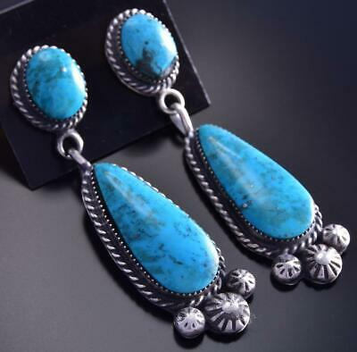 Two Stone Turquoise Drop Earring by Sarah Yazzie 9J16L