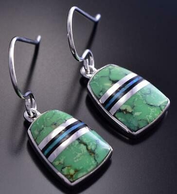 Gaspeite Inlay Earring by Elsie Armstrong 9C21T