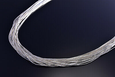 20 Strand Liquid Silver Necklace 18 Inches long 9J03A