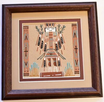 Navajo Sand Painting by Darlene Johnson - 9-3/4 x 9-3/4 - 9C13H