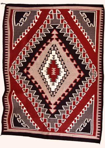 HUGE- Navajo Handwoven Rug by Cleo V Johnson - Large 75 in X 95 in Ganado Red- ZH17Y