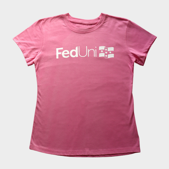 Short sleeve tees | Pink with white print