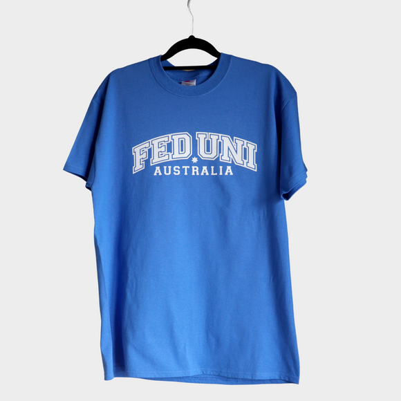 Short Sleeve T-Shirt | Blue with white print