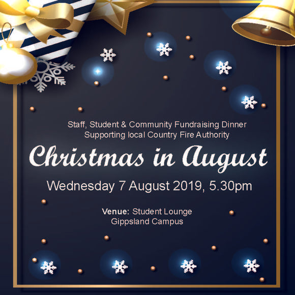 GIPPSLAND Christmas in August Dinner