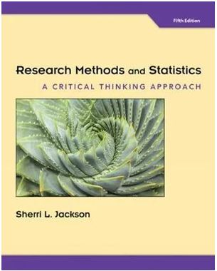 Research Methods and Statistics 5ed : Critical Thinking Approach