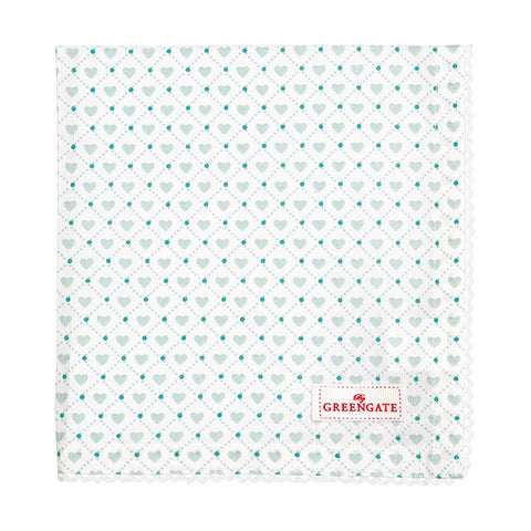 Cloth napkin - Haven mint with lace