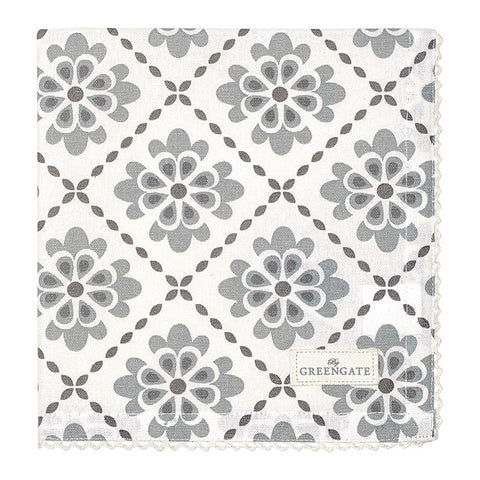 Cloth napkin - Isolde dark grey