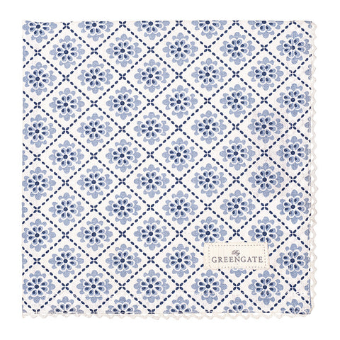 Set of 8 Cloth napkins - Oona blue