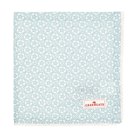 Cloth napkin - Sonja pale blue with lace