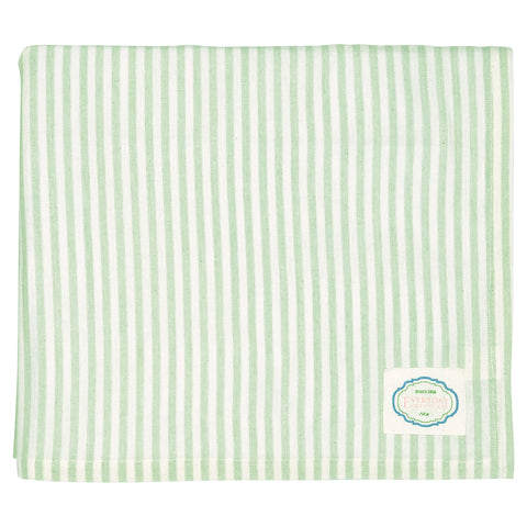 Tablecloth - ALICE stripe pale green 145 x 250cm